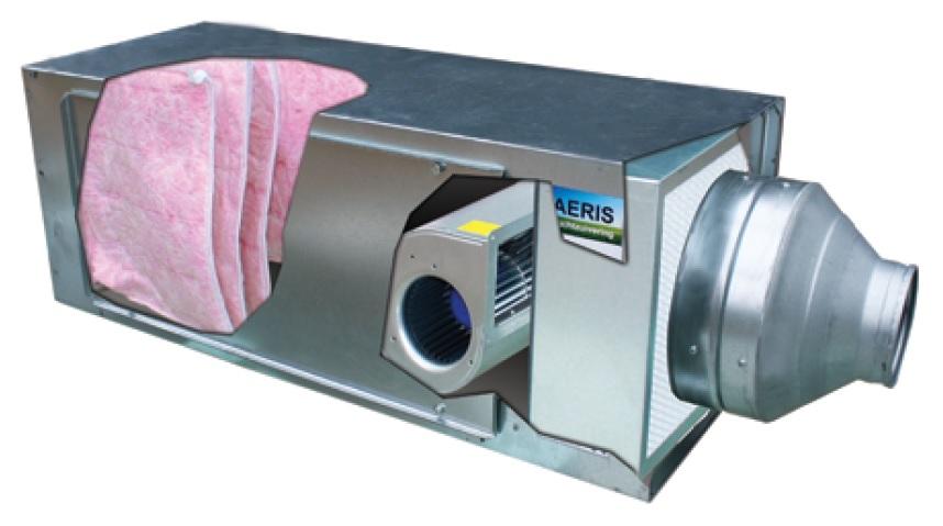 AERIS Luchtzuivering centrale unit voor schone lucht in huis en op het werk.